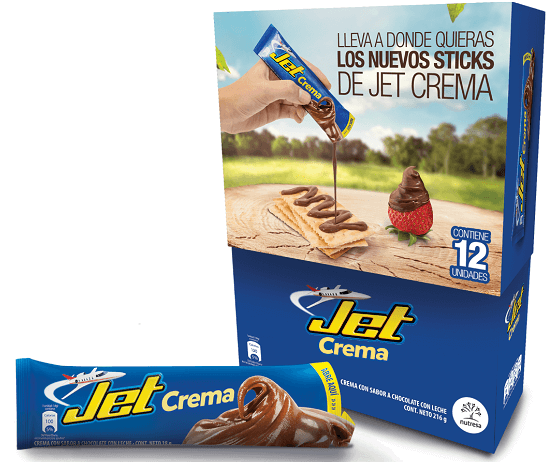 Chocolates Jet lanza Jet Crema en Sticks