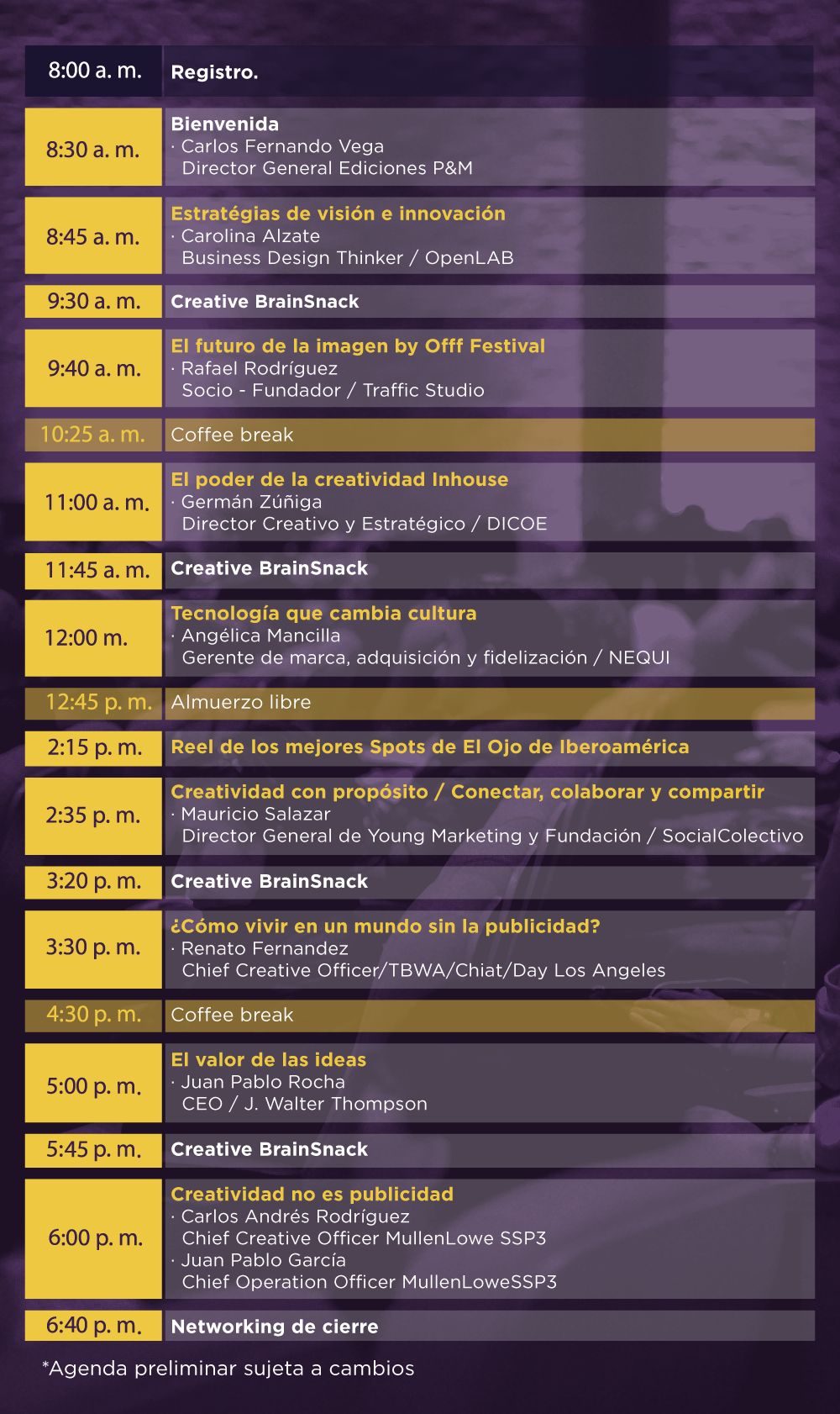 Creative Conference Colombia 2018